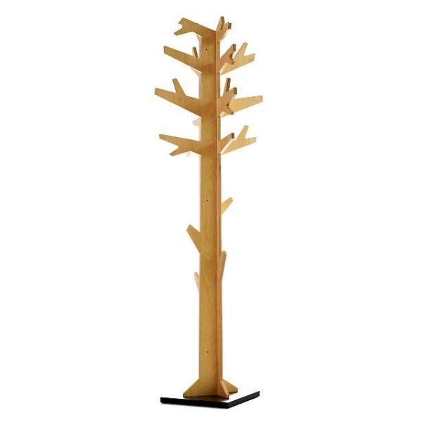 Attaccapanni da terra design moderno in legno albero betulla naturale laccato attaccapanni
