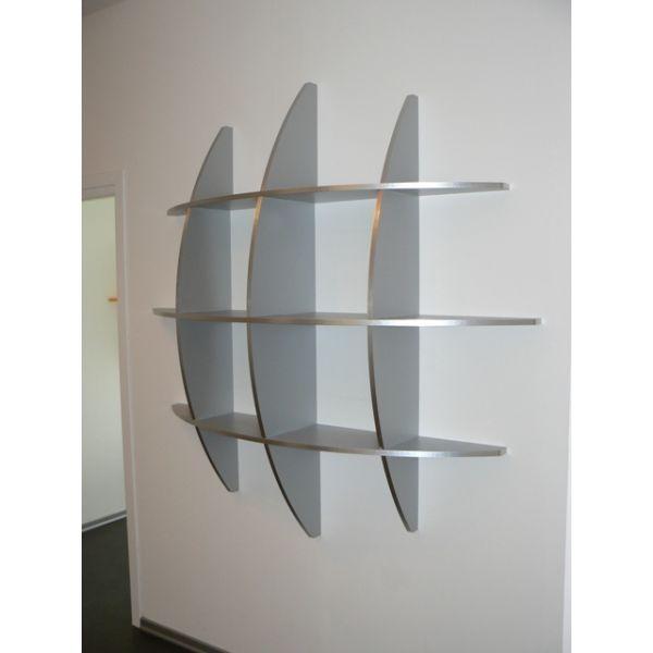 Libreria rotonda Guidus170 design moderno in legno scaffale 170 x 170 ...