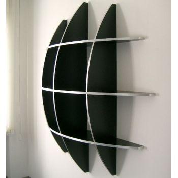 Libreria rotonda Guidus170 design moderno in legno scaffale 170 x 170 cm