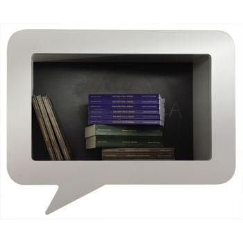 Scaffale mensola legno libreria moderna virgola fumetto design moderno librerie scaffali