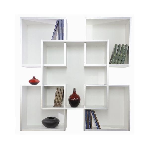 Libreria da muro scaffale a parete moderno in legno tato for Librerie in legno componibili