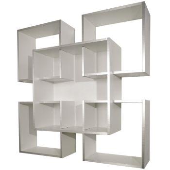 Libreria da muro Tato design moderno in legno 120 x 120 cm