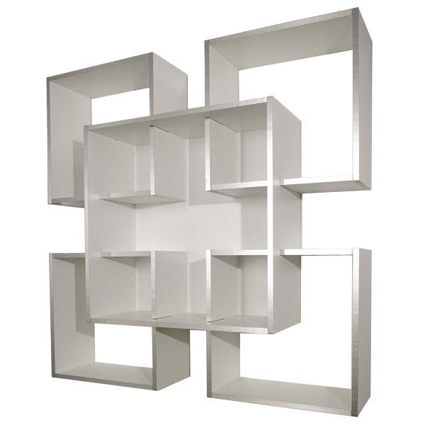 Libreria da muro scaffale a parete moderno in legno tato for Scaffali libreria in legno