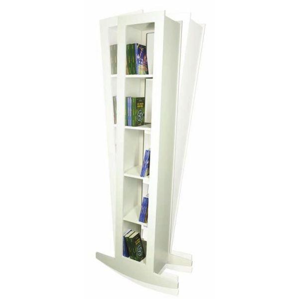 Libreria da terra a colonna per soggiorno in legno Dondola