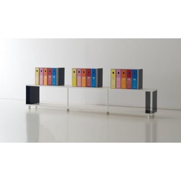 Scaffale componibile per arredo negozi e uffici Scaffalatura moderna in legno