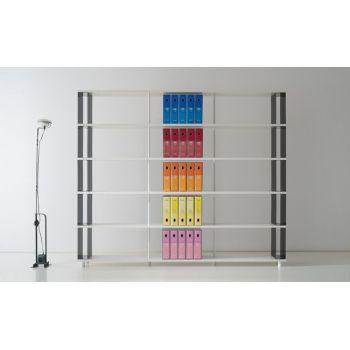 Libreria scaffalatura componibile moderna per arredamento uffici e negozi