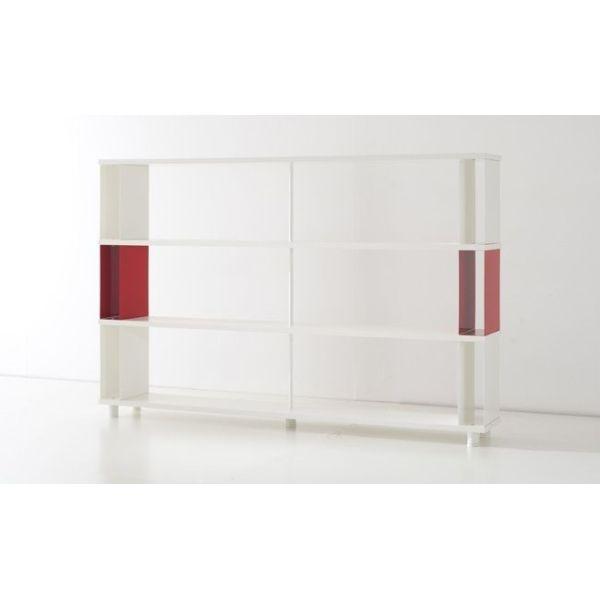 Scaffale metallico per arredi negozi e uffici con mensole in legno libreria moderna