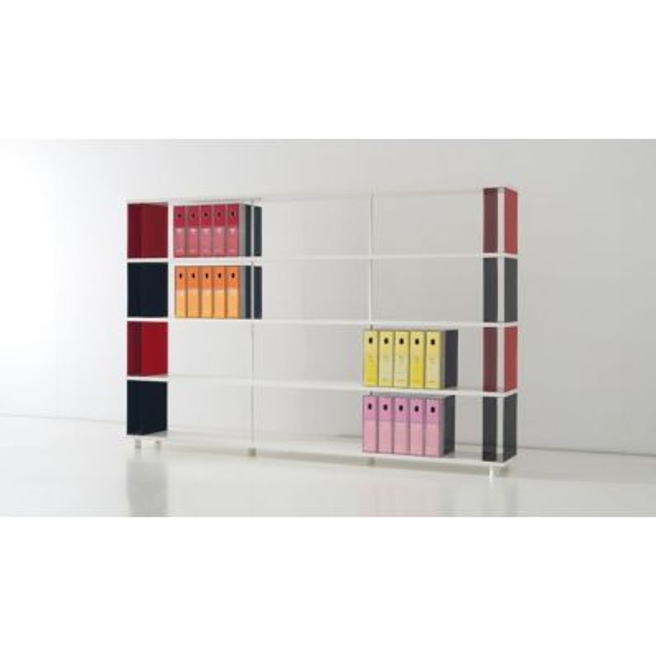 Libreria scaffale componibile da parete per arredo ufficio negozio casa