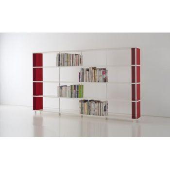 Libreria a muro in metallo e legno scaffale per ufficio o negozio