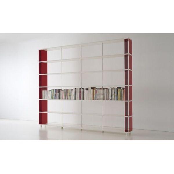 Libreria a parete skac6 moderna per casa ufficio 300 x 250 cm for Scaffali libreria in legno