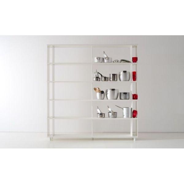 SCAFFALE moderno in legno per ufficio o negozio SCAFFALATURE componibili
