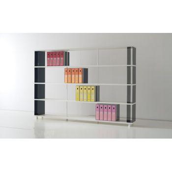 Scaffale moderno per ufficio libreria componibile moderna design in metallo e legno