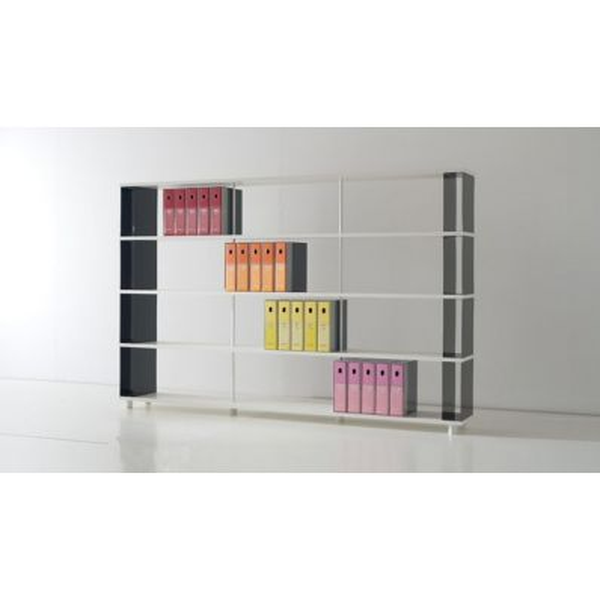 Skab4 scaffale libreria componibile a 5 ripiani 250 x 170 cm for Librerie moderne economiche