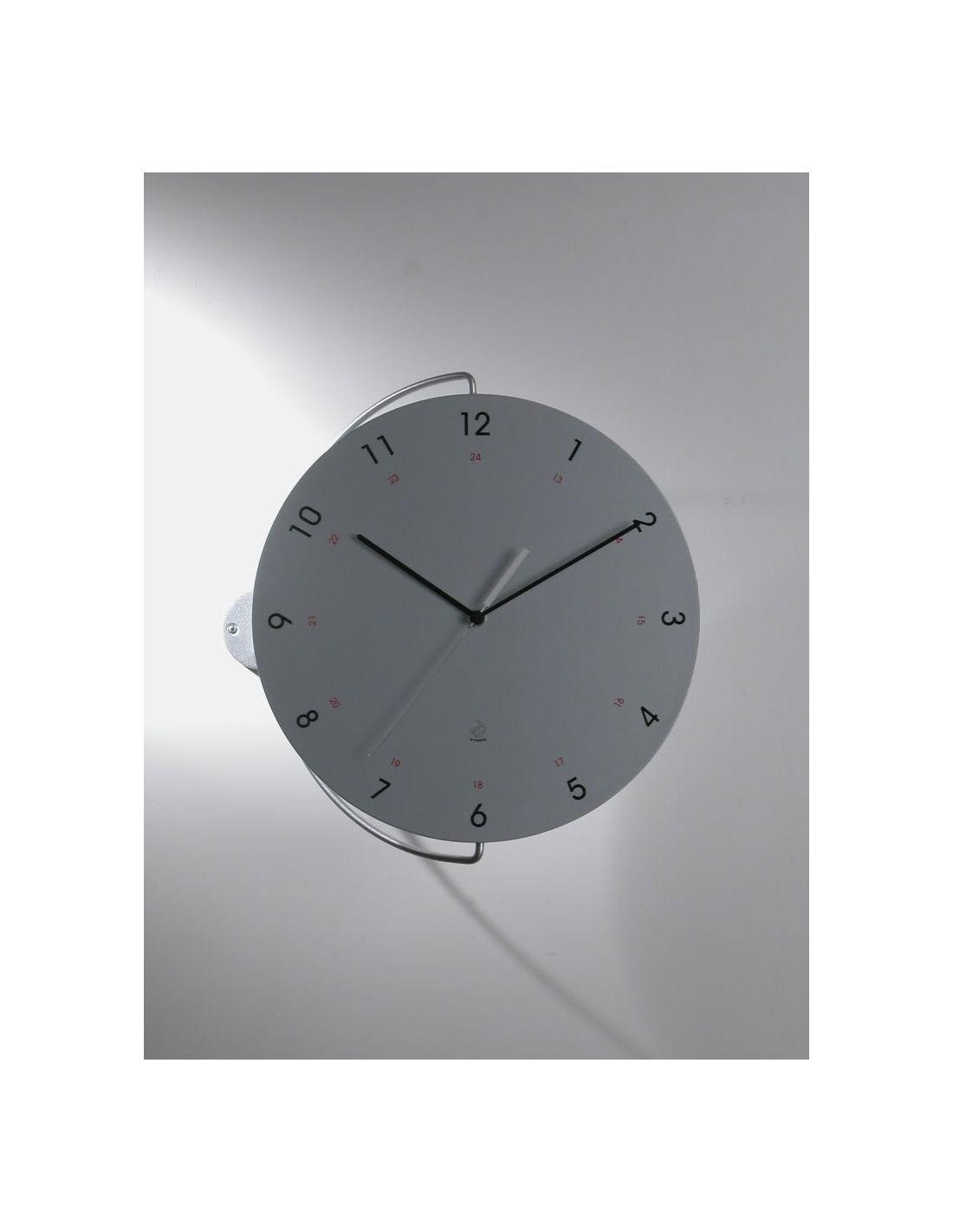 Tour orologio design a muro in acciaio e legno diametro 36 cm - Orologio design parete ...
