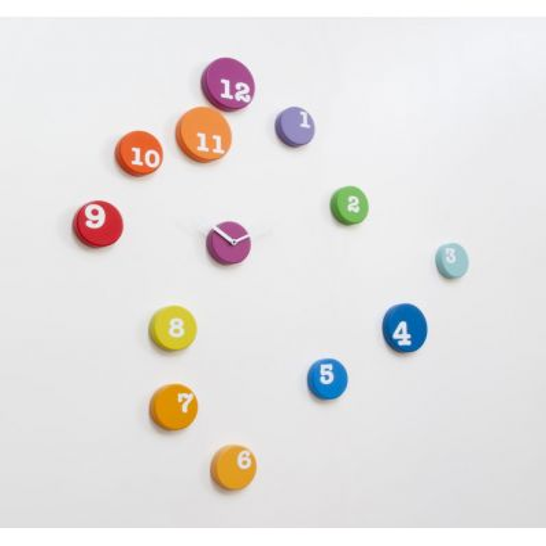 Orologio design da parete con dischi in legno Fun_time