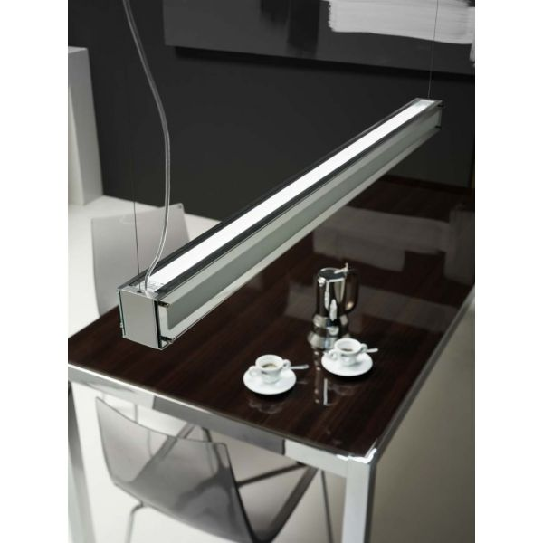 lampadari design sospensione su tavolo soggiorno elegante : Woody A251 Lampadario a sospensione design a BARRA per tavolo da ...