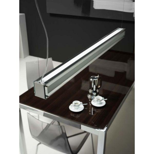 Woody a251 lampadario a sospensione design a barra per tavolo da pranzo living ebay - Lampadario sala da pranzo ...