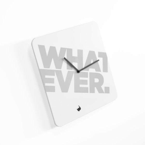 Orologio da parete quadrato design moderno Whatever