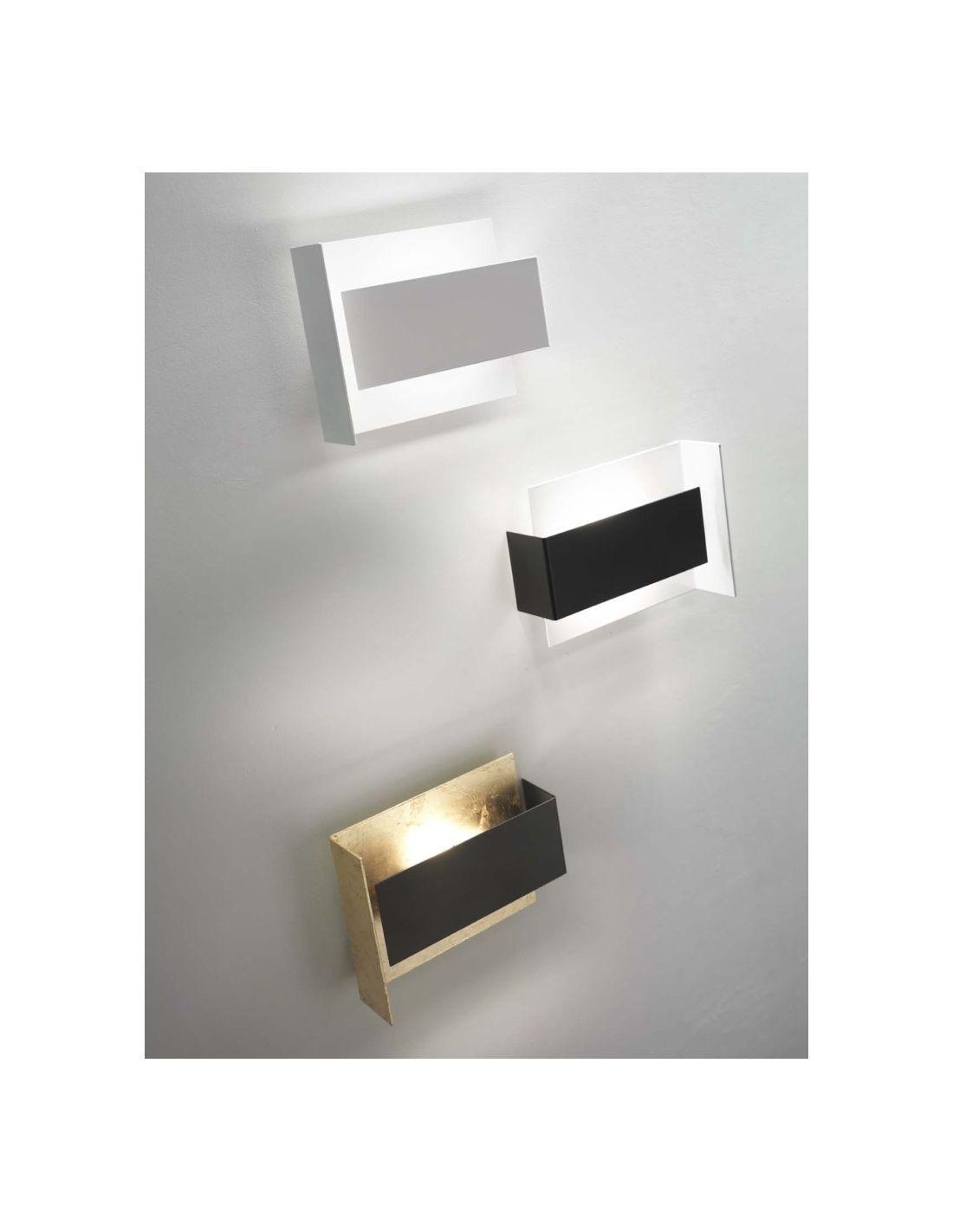 Tao d702 lampada da parete a led in acciaio oro e nero - Lampade a parete design ...