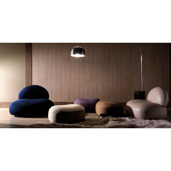Divano design moderno a 2 posti scoop in tessuto o in - Altezza seduta divano ...
