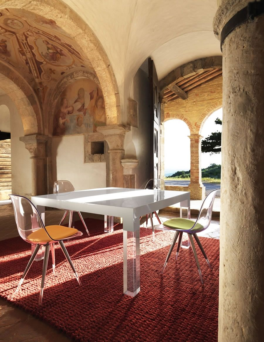 Tavolo da pranzo design moderno mies - Tavolo pranzo moderno ...