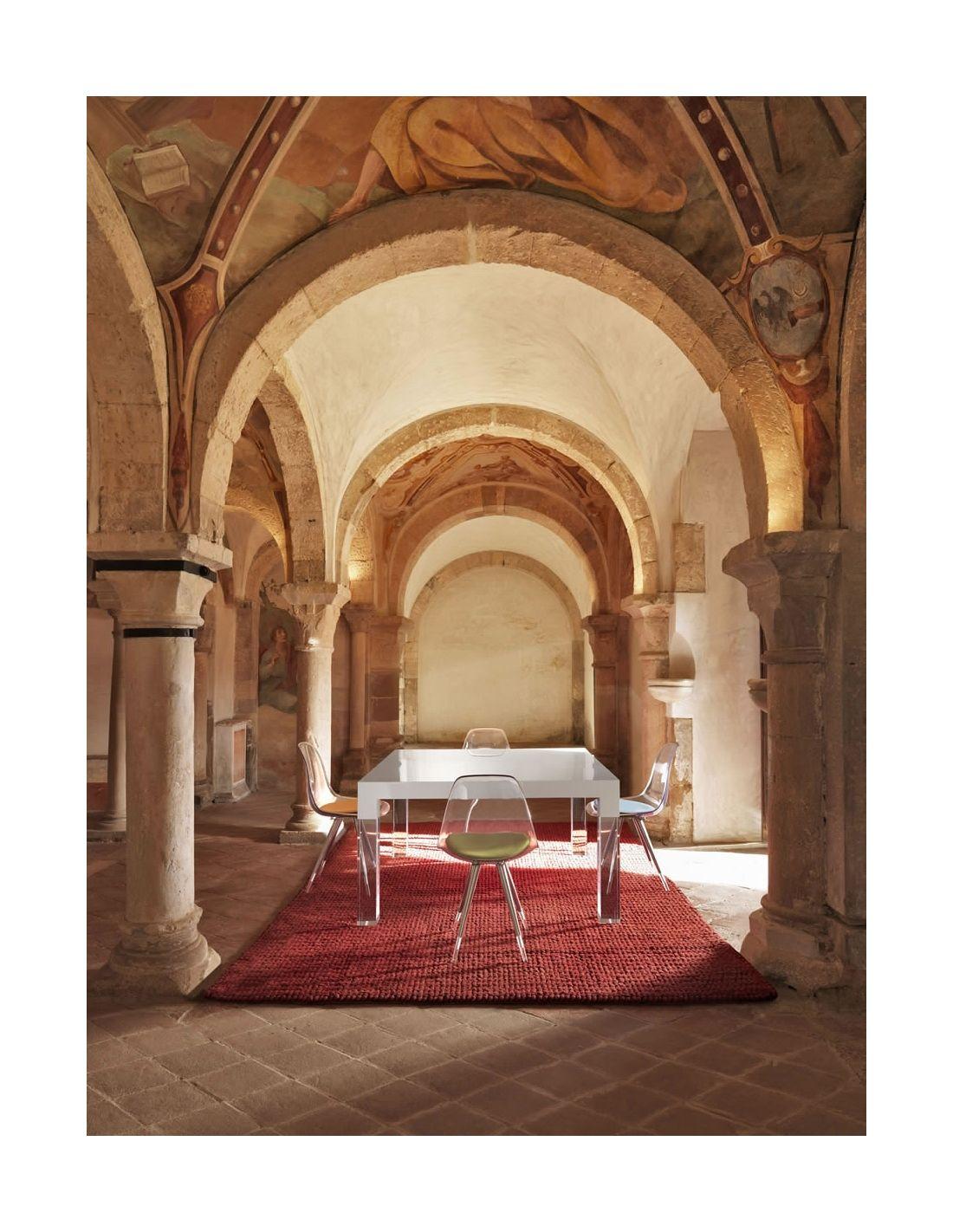 Tavolo da pranzo design moderno mies for Tappeti per tavolo da pranzo