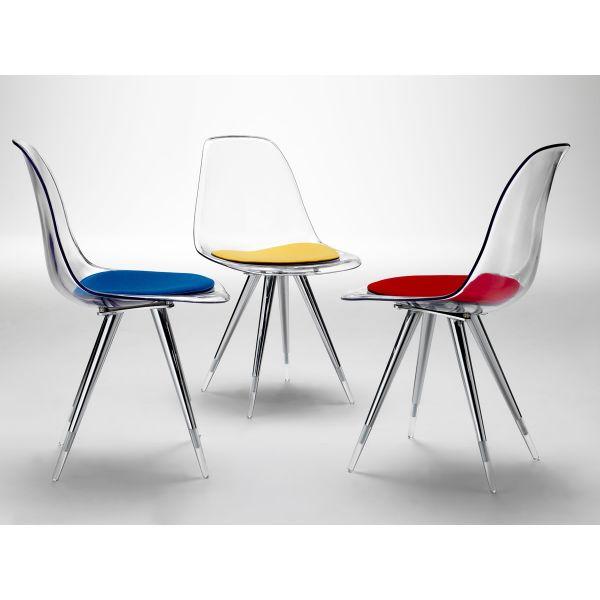 ANGEL sedia moderna da CUCINA in policarbonato TRASPARENTE x soggiorno pranzo  eBay