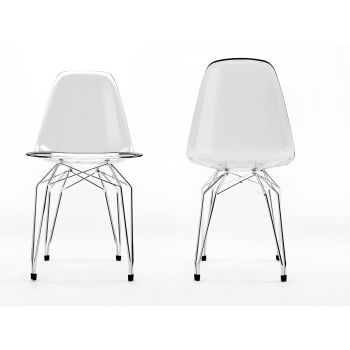 Diamond sedia design in policarbonato trasparente per cucina