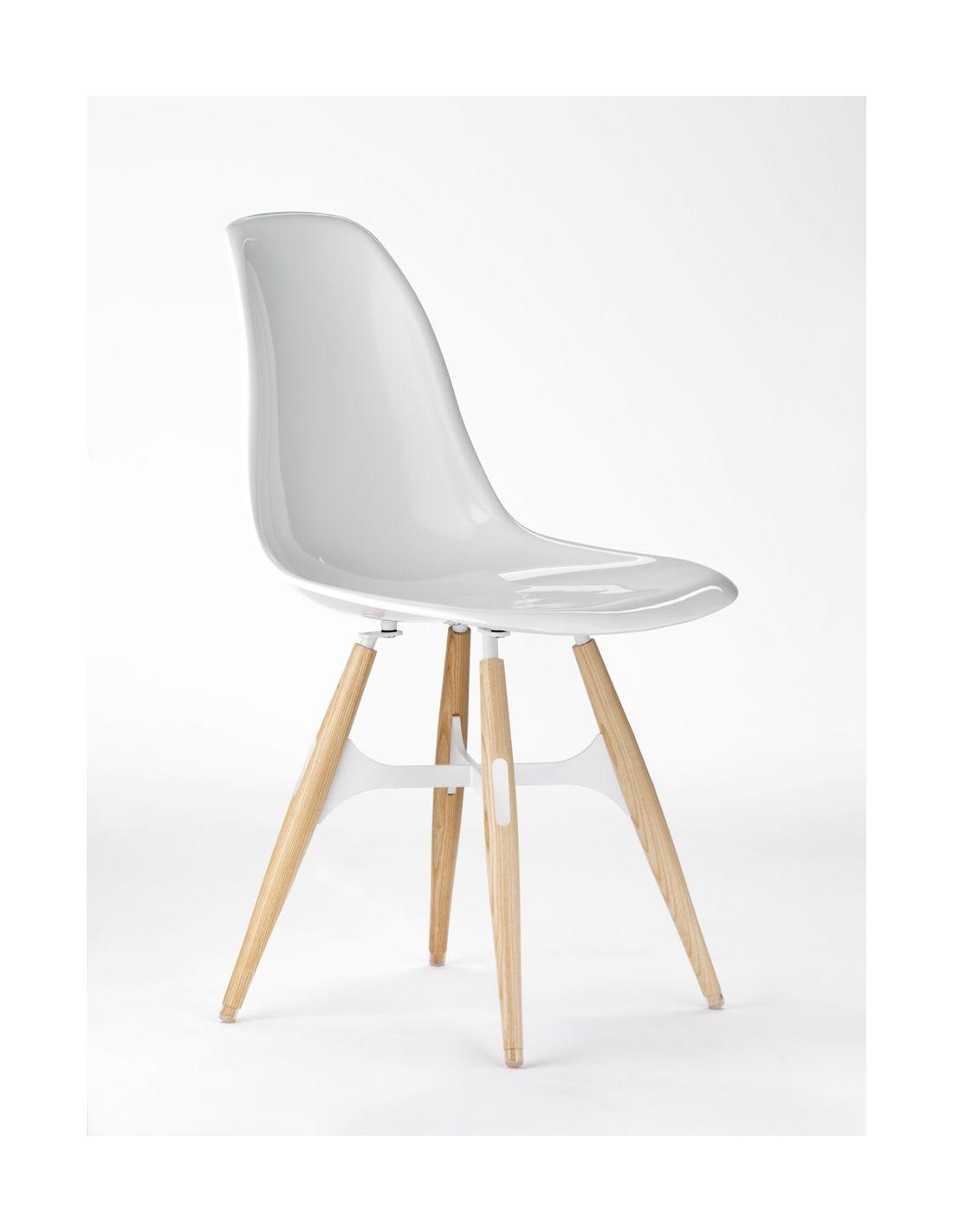 Zigzag sedia moderna da cucina in policarbonato gambe in for Sedia moderna design