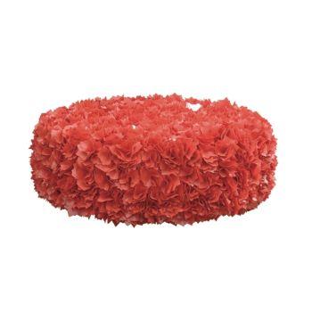 Mega Puff da esterno in materiale riciclato bianco nero rosso