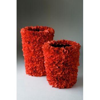 Vaso da esterno in materiale riciclato Bianco Rosso o Nero