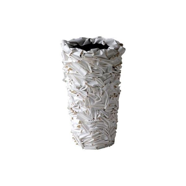 Vaso da esterno a strisce in materiale riciclato
