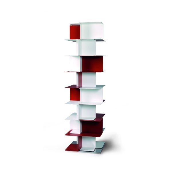 Libreria a colonna autoportante in acciaio design moderno Babel