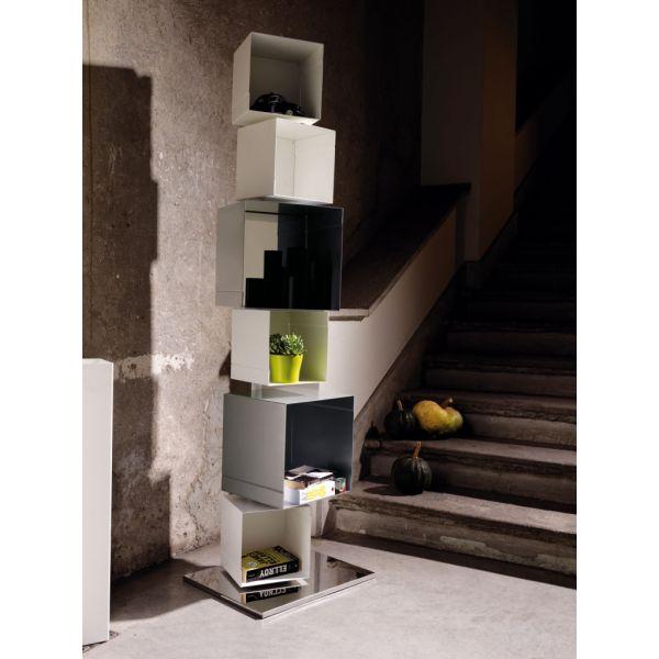 Libreria colonna verticale design moderno in acciaio Skatola sk22