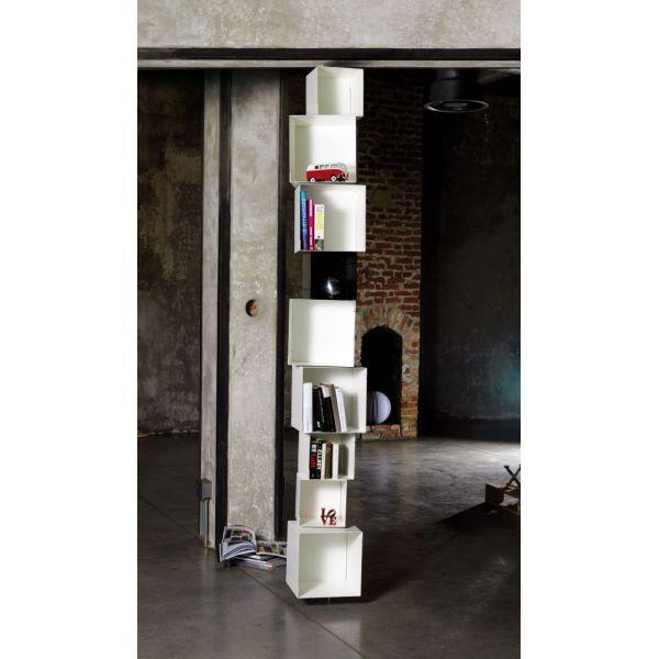 Libreria a colonna in acciaio da terra a soffitto Skatola sk33