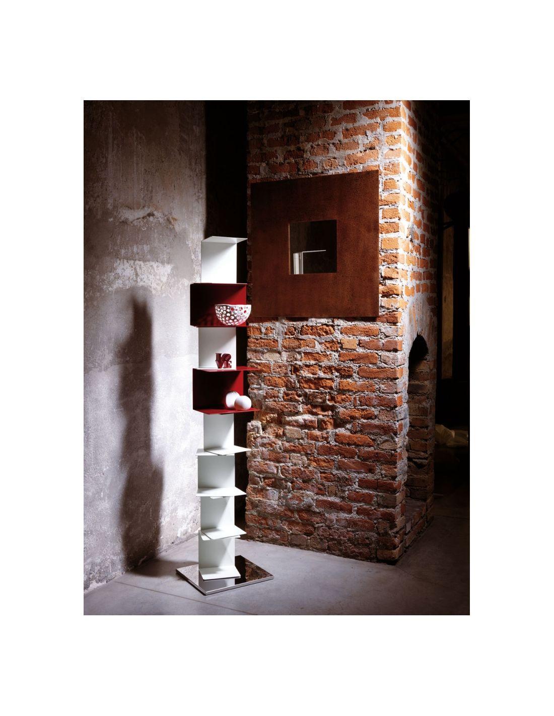 Ghost st22 libreria da terra a colonna scaffalatura con for Libreria con mensole