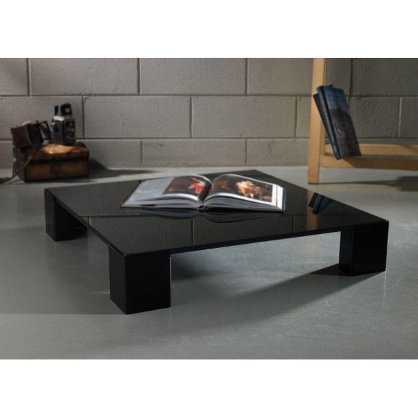 Kuadra tavolino quadrato basso da caffe per soggiorno colore nero ...