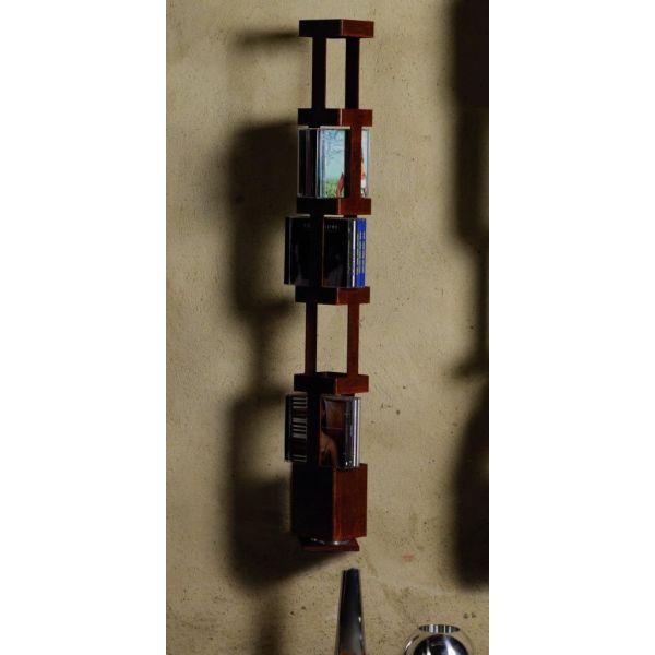 Porta cd tower a a colonna da parete girevole in acciaio 45 cd - Porta cd da parete ...