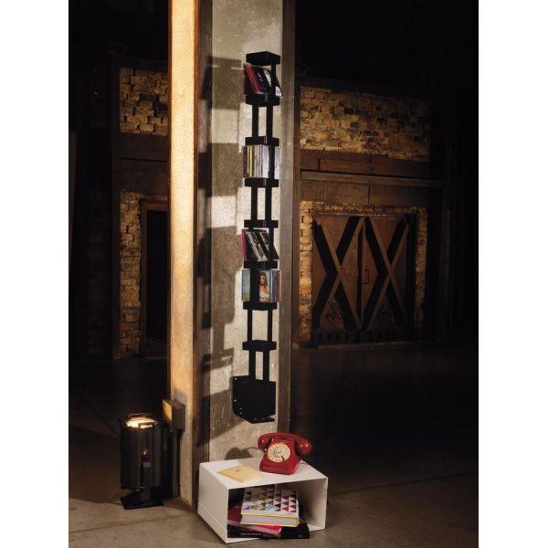 Porta CD a colonna design da parete girevole 72 CD Tower B