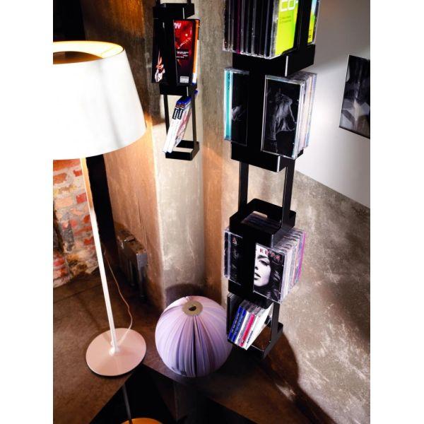 Porta CD sospeso girevole design moderno per 72 CD Tower 33B