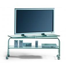 Porta TV su ruote in vetro curvato Reflex