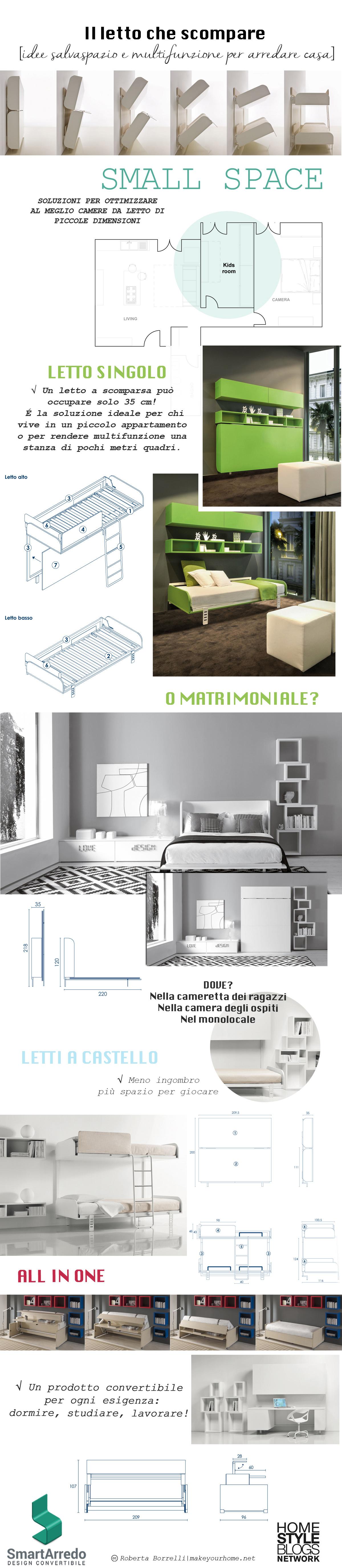 Letti a scomparsa - Arredare una casa piccola - Infografica