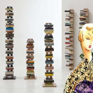 Librerie verticali a colonna Le Zie di Milano
