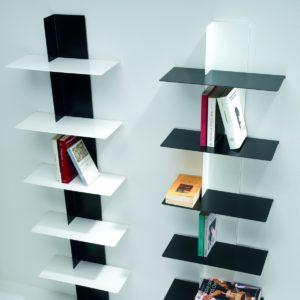 Lift libreria verticale a parete in acciaio