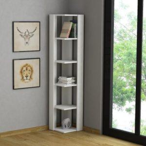 Libreria angolare per arredare piccoli spazi