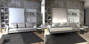 Letto a scomparsa con divano design moderno Living