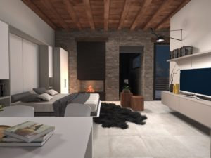 Letto a scomparsa Basic laterale
