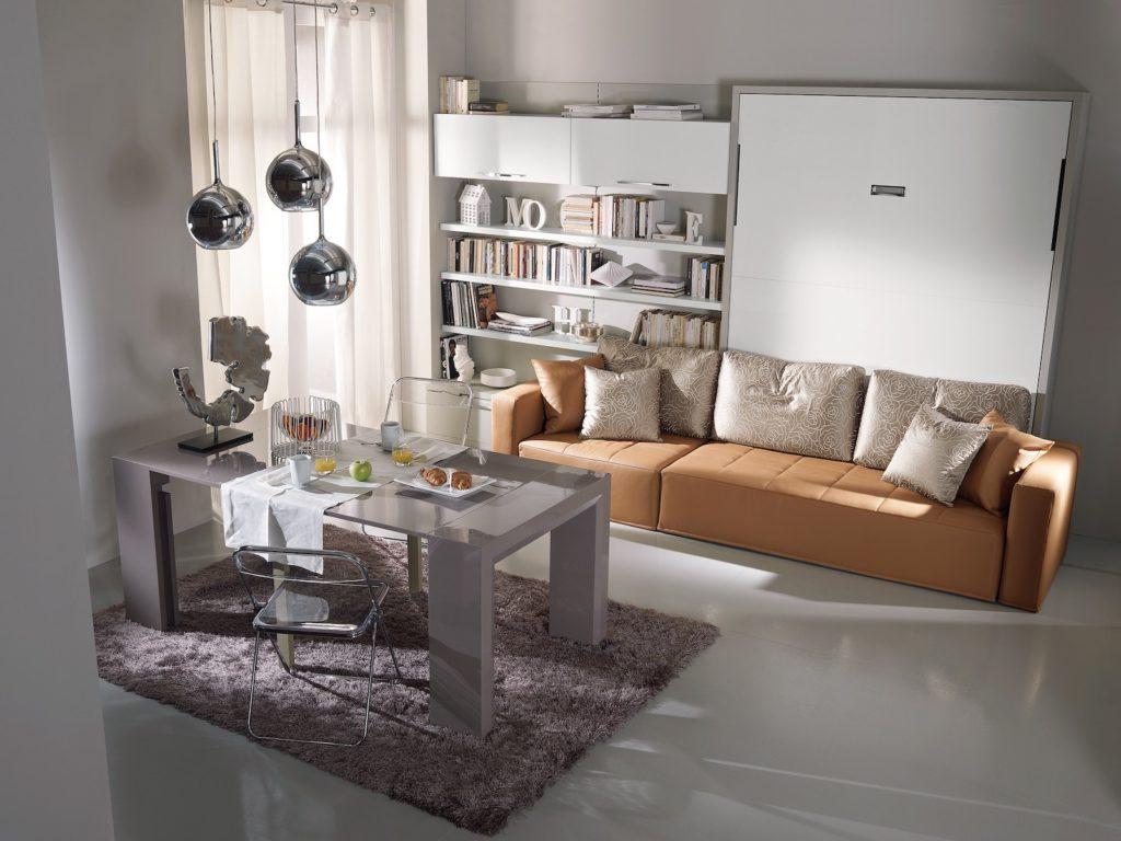 Letto a scomparsa moderno con divano Domino DRS Mobili Fratelli Spinelli