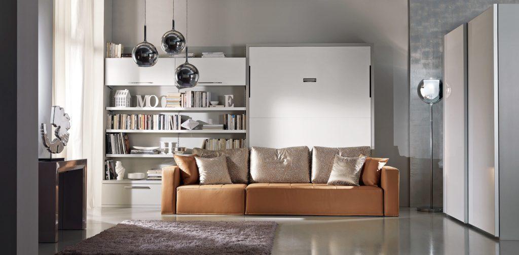 Letto a scomparsa moderno con divano Domino DRS Mobili