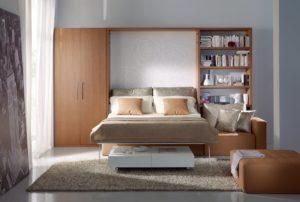 Letto a scomparsa design con divano Domino DRS Mobili Fratelli Spinelli